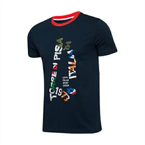 乐途LOTTO男子运动生活系列短袖运动T恤ETSL009