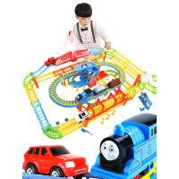 越诚托马斯轨道车小火车套装儿童电动赛车益智男孩3-6岁7玩具汽