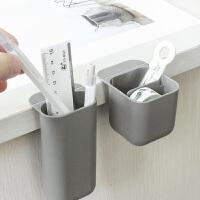 桌面收纳笔筒可挂办公收纳笔筒挂件创意时尚斜挂笔盒