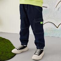 【5折券预估价:169.5元】马拉丁童装男大童裤子春装2020年新款休闲百搭儿童裤子牛仔裤
