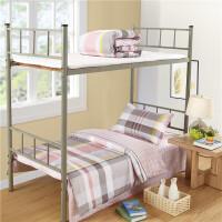 纯棉三件套学生宿舍件套全棉单人床单被套1.5米0.9m寝室床上用品v定制