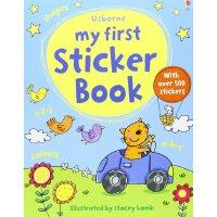 My First Sticker Book 进口英文原版 本宝宝贴纸书(内容包括字母、数字、颜色、形状等)