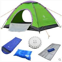 3-4人户外帐篷多人 家庭套餐  野营露营双开门