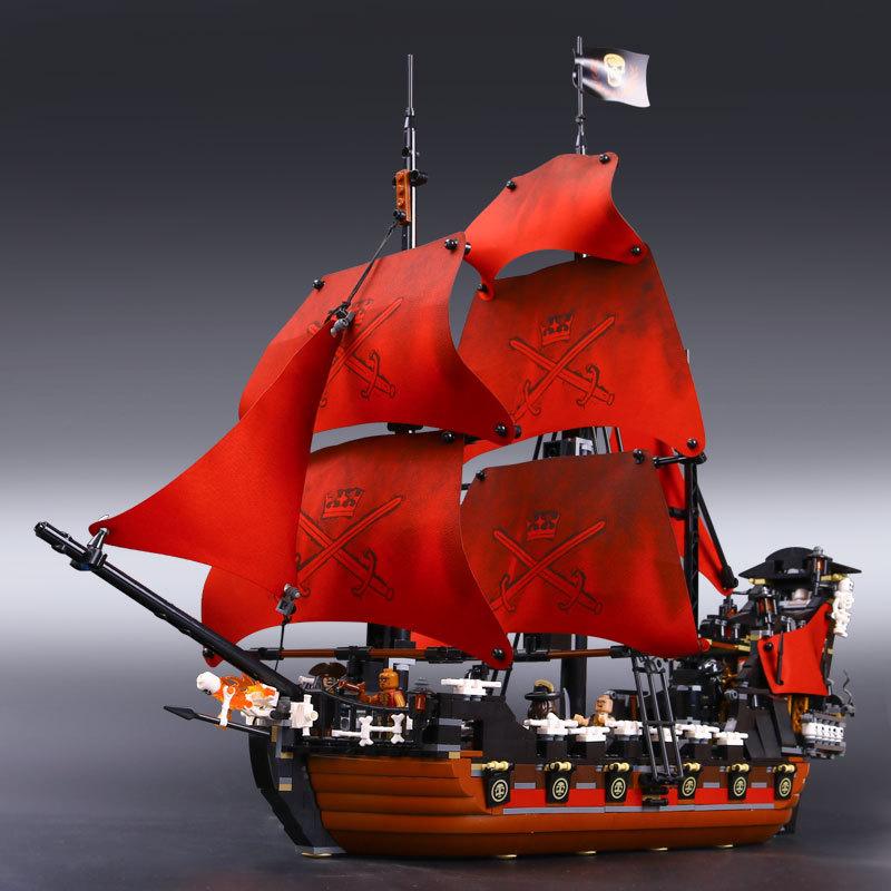 兼容乐高电影周边系列加勒比海盗船安妮女王复仇号战舰人仔人偶模型益智儿童拼插积木玩具 女王安妮复仇号