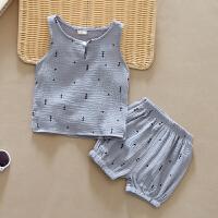 男童夏装宝宝套装夏季婴儿童纯棉背心两件套