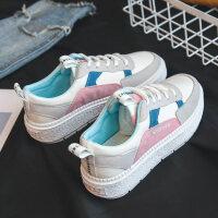 2018小白鞋女帆布鞋厚底冬季百搭港风韩版学生板鞋秋鞋子