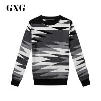 【GXG过年不打烊】GXG男装 秋季男士时尚都市潮流青年流行花色修身毛衫毛衣针织衫
