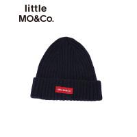 littlemoco秋冬新款儿童帽子贴布绣保暖针织毛线帽男女童冷帽帽子