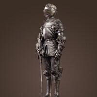 北欧饰品摆件欧式复古武士摆件盔甲铠甲骑士模型酒吧家居软装饰品抖音