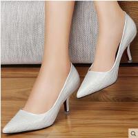 百年纪念 新款浅口单鞋女高跟鞋细跟尖头通勤ol酒杯跟女鞋1132