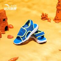 安踏(ANTA)男童鞋小童沙滩鞋防滑凉鞋31824961中蓝/荧光亮绿/黑/安踏白30