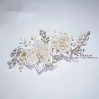 儿童头饰侧边花朵韩式唯美手工韩式水钻发饰珍珠头花花童演出礼服