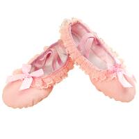 秋冬女儿童加绒芭蕾舞蹈鞋女童软底练功鞋加厚幼儿跳舞演出鞋