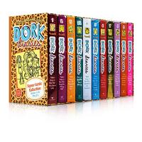 英文原版 Dork Diaries Squee-tastic 1-10 怪诞少女日记 精装11册套装 女生版小屁孩日记