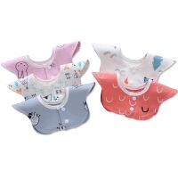 婴儿口水巾防水宝宝围嘴新生儿童360度旋转口水围兜夏季薄款