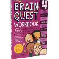 [现货]英文原版 Brain Quest Grade 4 益智挑战 四年级练习带粘纸