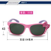 儿童偏光太阳镜 柔软女童防紫外线墨镜 猫咪形蝴蝶结眼镜