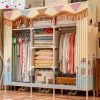 简易衣柜简约现代经济型布衣柜钢管加粗加固钢架组装牛津布艺衣橱3qu