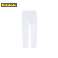 【4折到手价:19.6】巴拉巴拉女童袜子春季新款长筒袜儿童打底袜白色小女孩外穿连裤袜