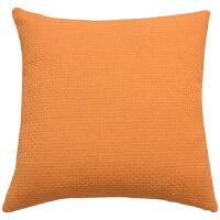抱枕靠垫沙发靠背垫纯色正方形办公室亚麻靠枕客厅抱枕套不含芯