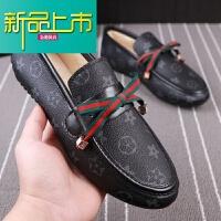 新品上市冬季新款豆豆鞋鞋男士加绒保暖棉鞋低帮套脚休闲鞋夜店小伙瓢鞋潮