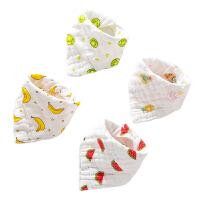 男童女孩宝宝口水巾春秋季婴儿围兜围嘴婴儿三角巾棉纱布