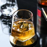 日式玻璃杯子啤酒杯威士忌酒杯男家用透明杯子水杯女饮料杯果汁杯