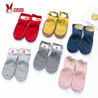 秋冬婴儿袜子宝宝新生儿地板袜加厚毛圈鞋袜保暖儿童防滑0-12个月