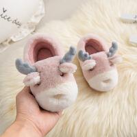 2-3-4-5-6岁穿冬季男女童鞋宝宝保暖包跟防滑厚底棉拖鞋软底