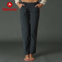 Marmot/土拨鼠户外运动女士轻量透气弹力速干长裤