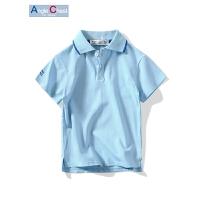 男童短袖POLO衫 翻领打底衫宝宝夏季短袖T恤 儿童半袖T恤
