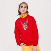 【3件3折价:59.7】巴拉巴拉童装男童女童卫衣2019新款亲子装加绒薄款潮