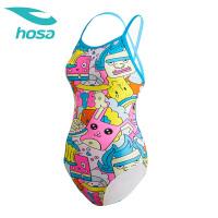 hosa浩沙连体三角泳衣女可爱青少女温泉沙滩泳装2018新款显瘦
