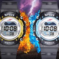 儿童手表男孩防水夜光小学生手表 运动多功能电子表男童手表