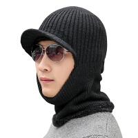 男女护耳帽子冬天骑车套头帽加厚帽子保暖加绒防寒帽女围脖护耳帽