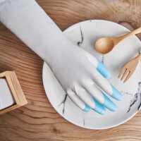 博尔格指尖加厚光里家务手套洗衣防水清洁防滑耐磨厨房洗碗防水