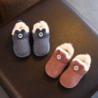 冬季儿童棉鞋男1-3岁女宝宝棉拖鞋加绒加厚防滑居家小孩保暖短靴