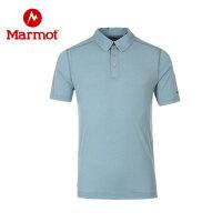 Marmot/土拨鼠男款户外轻量透气速干短袖Polo衫