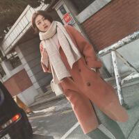 2019新款秋冬新款韩版加厚复古羊绒呢子大衣chic森系毛呢外套女中长款