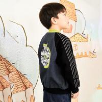 【1件4.5折价:287元】马拉丁童装男大童外套春装2020年新款休闲百搭卫衣外套短款