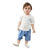 2019春夏新款儿童宝宝棉春装两件套家居男女童T恤套装