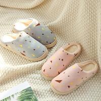 家居室内棉拖鞋女冬季棉鞋居家防滑厚底托鞋情侣保暖毛拖鞋月子鞋