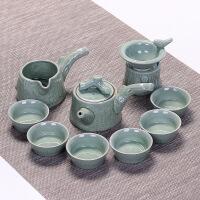 茶具套装陶瓷哥窑开片家用茶碗冰裂釉整套汝窑青瓷功夫茶杯泡茶壶