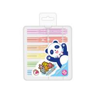 金万年0583熊猫图案粗杆水彩笔 学生彩色绘画笔 涂鸦笔