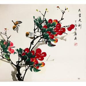 王广义《花鸟二》著名画家