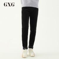 【GXG过年不打烊】GXG男装 春季男士时尚棉韩版直筒休闲时尚潮流黑色长裤男