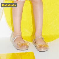 巴拉巴拉女童鞋子公主鞋小童皮鞋软底2019新款夏季宝宝甜美果冻鞋