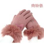 韩版羊毛时尚保暖加厚女士手套   加絨手套 女