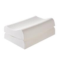 南极人泰国乳胶枕单人天然乳胶枕成人护颈椎枕一对装家用枕芯枕头