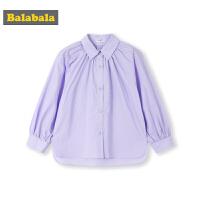 巴拉巴拉童装女童衬衫春季2019新款儿童衬衣长袖纯棉小童宝宝上衣